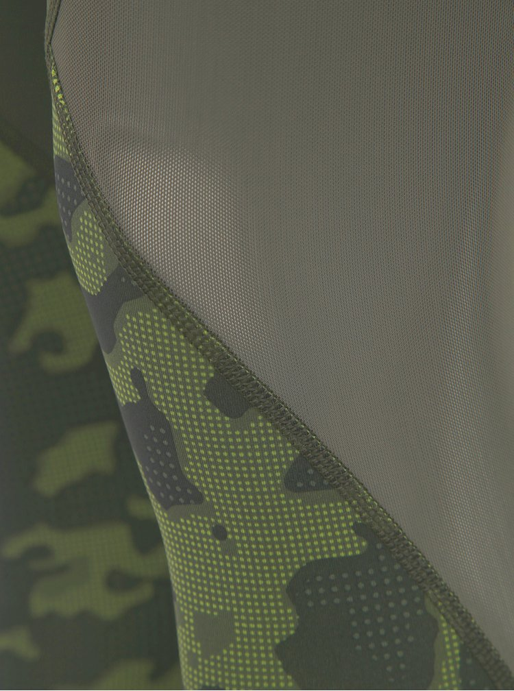 Kaki dámske športové  legíny adidas Performance Camo