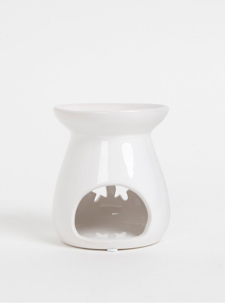 Bílá aromalampa s vánočním motivem Dakls