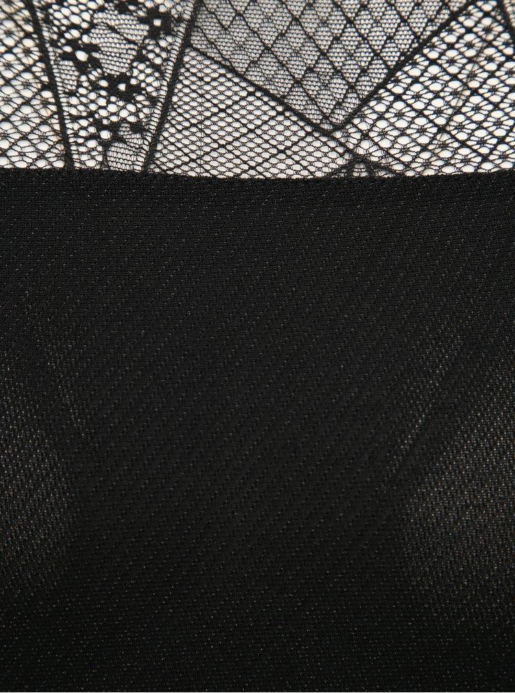 Černý top s metalickými vlákny ONLY Aya