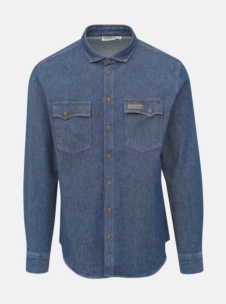 Modrá pánská džínová košile Maloja Darco