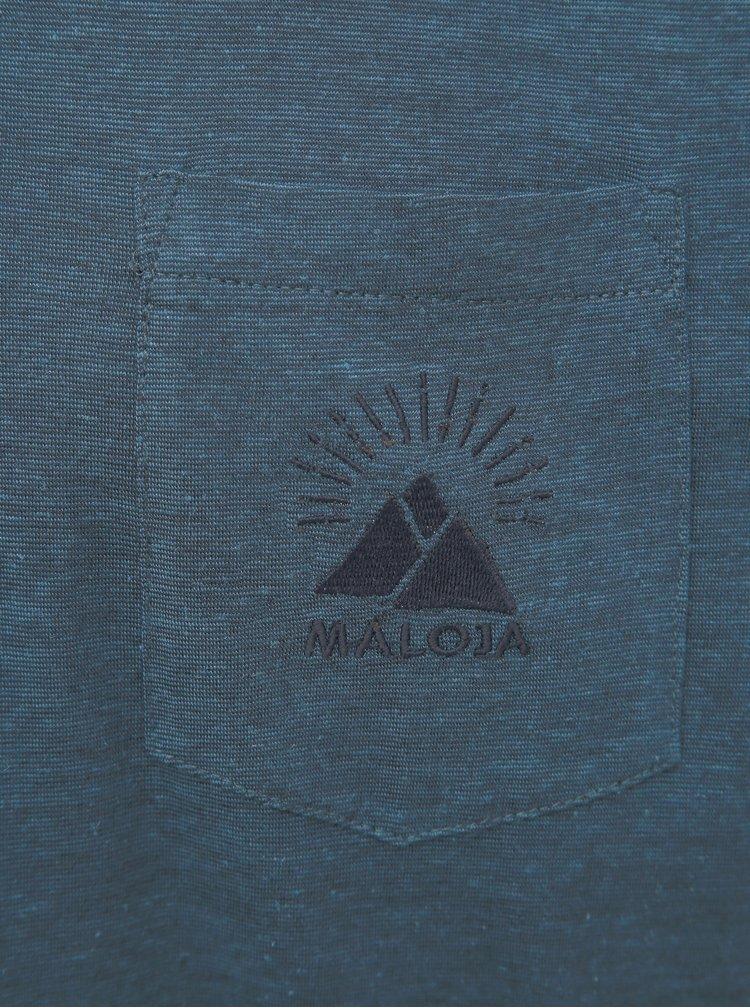 Modré pánské tričko Maloja Casnil