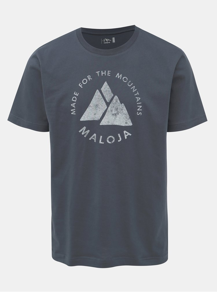 Tmavomodré pánske tričko s potlačou Maloja Neir