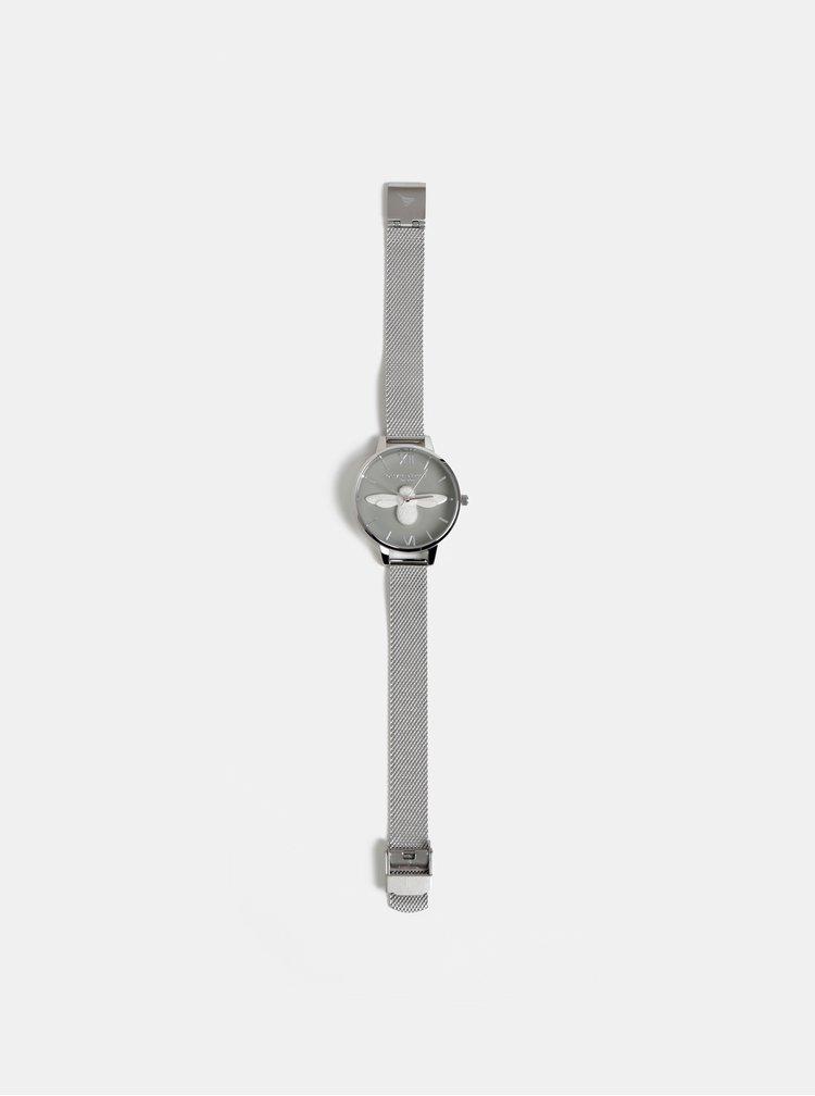 Dámske hodinky s kovovým remienkom v striebornej farbe Olivia Burton
