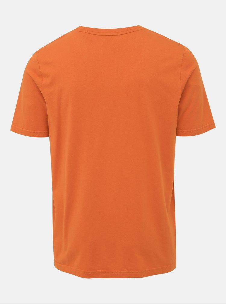 Oranžové pánské tričko s potiskem  Maloja Frillux