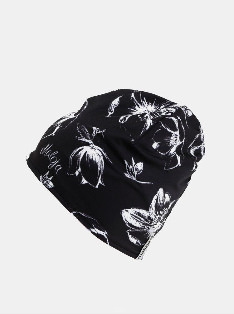 Černá dámská květovaná čepice Maloja Parfurgga