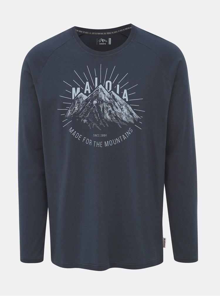 Tmavě modré pánské tričko s potiskem Maloja Giandains