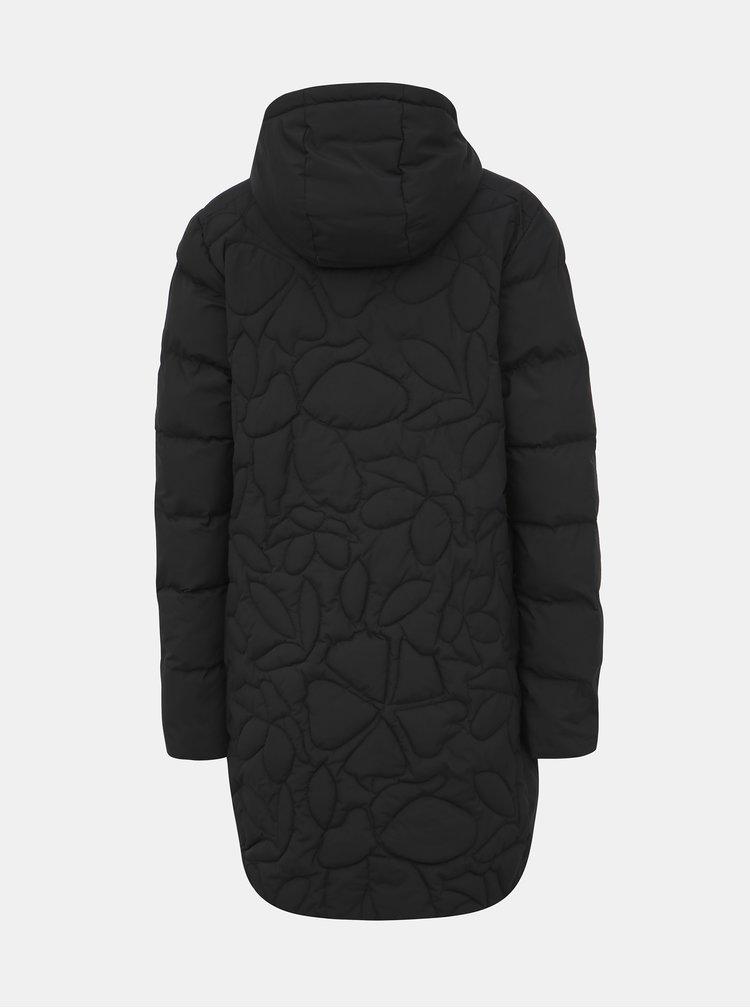 Černý dámský prošívaný funkční zimní kabát Maloja Praüras