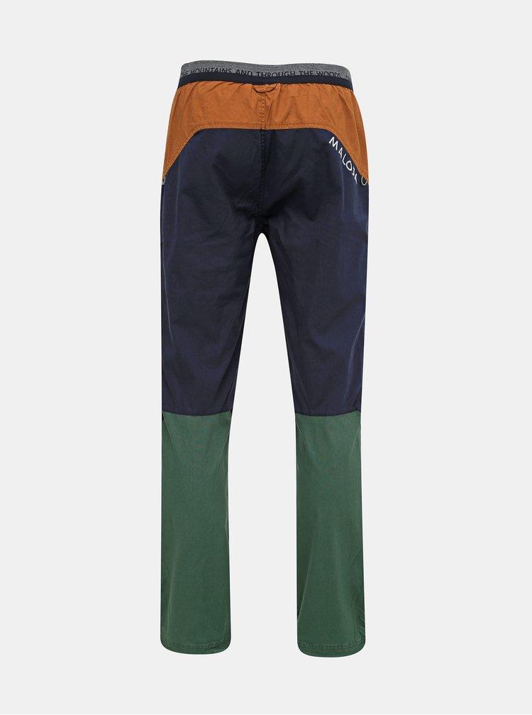 Tmavomodré pánske konopné nohavice Maloja Esra
