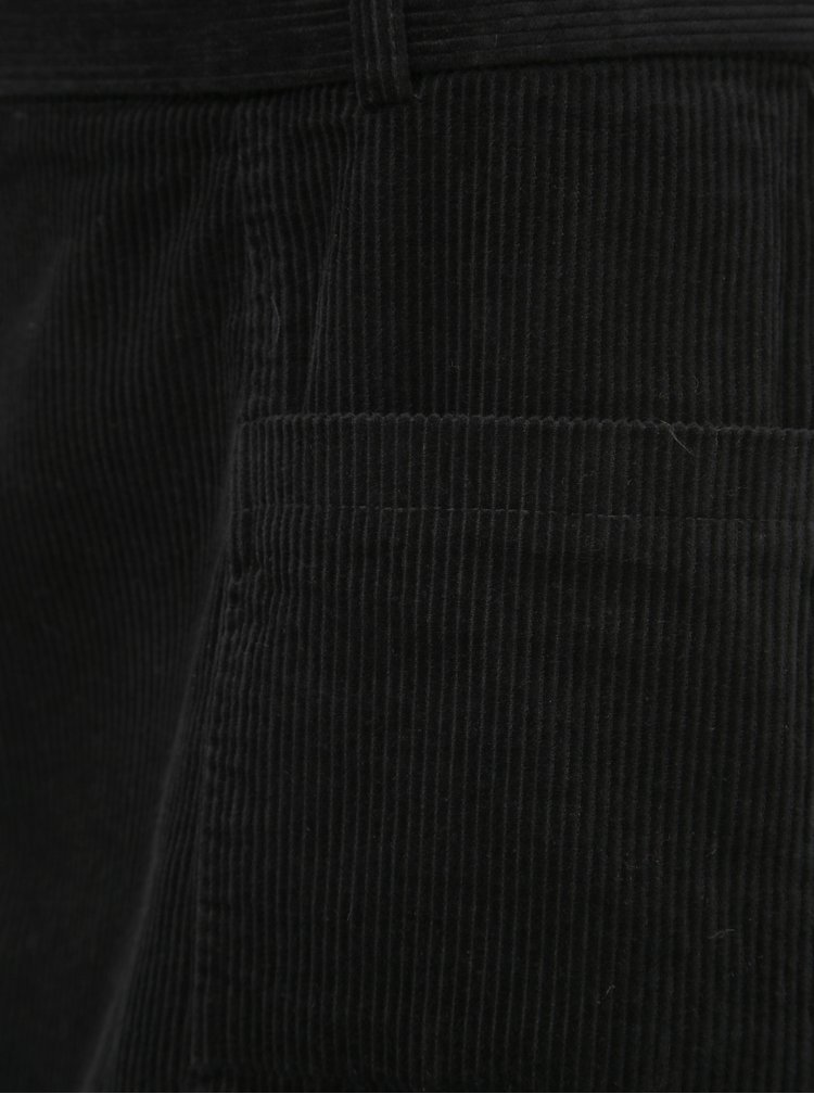 Černá manšestrová sukně Dorothy Perkins