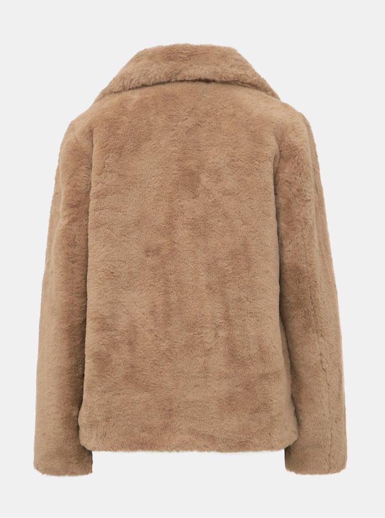 Svetlohnedá bunda z umelej kožušiny Dorothy Perkins