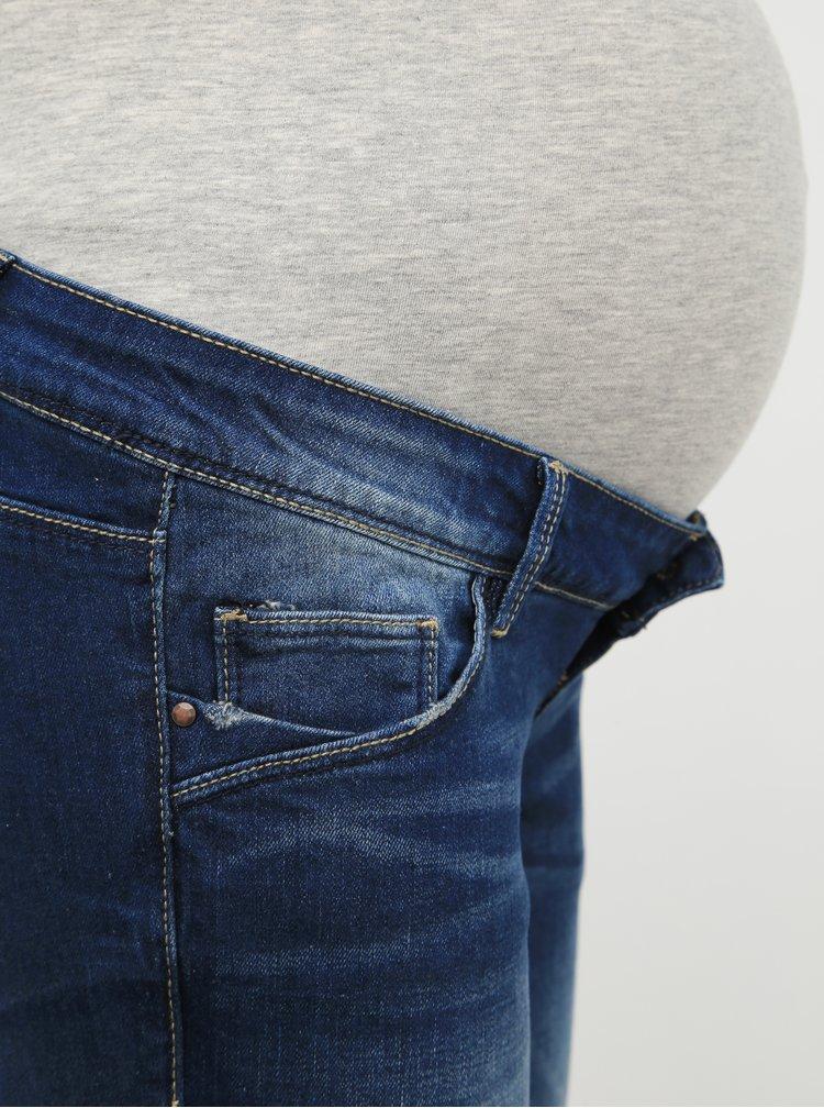 Modré těhotenské straight fit džíny Mama.licious Bay