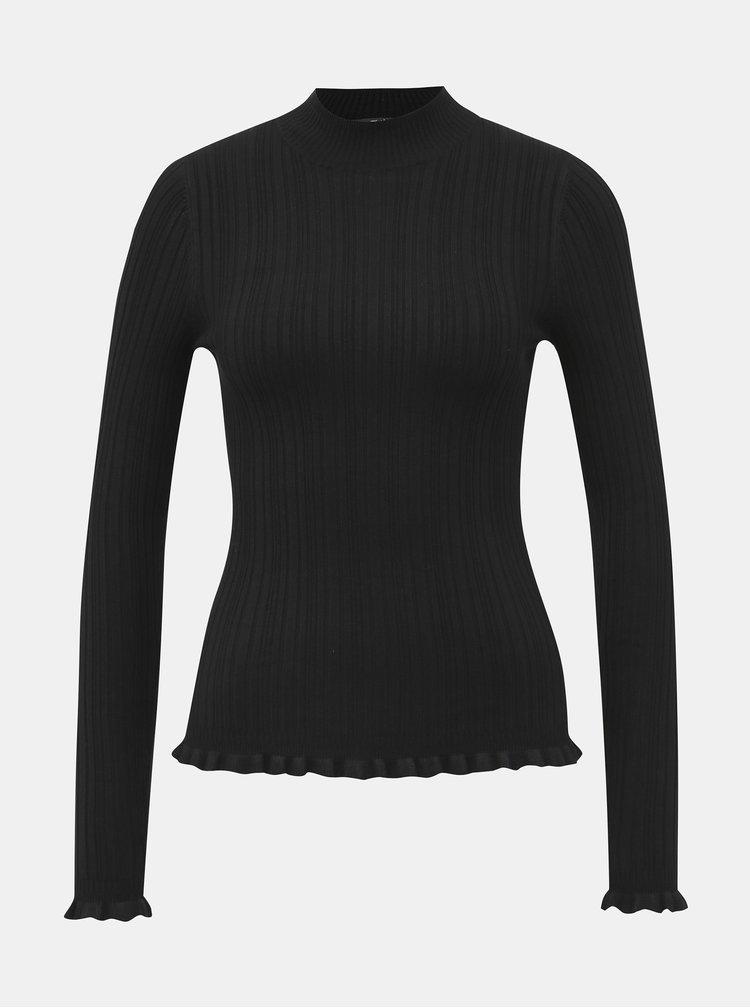 Černý lehký svetr Miss Selfridge