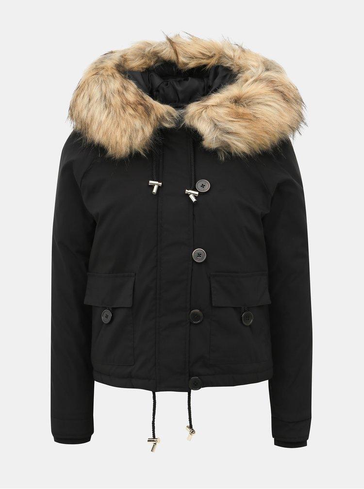 Čierna krátka bunda Miss Selfridge