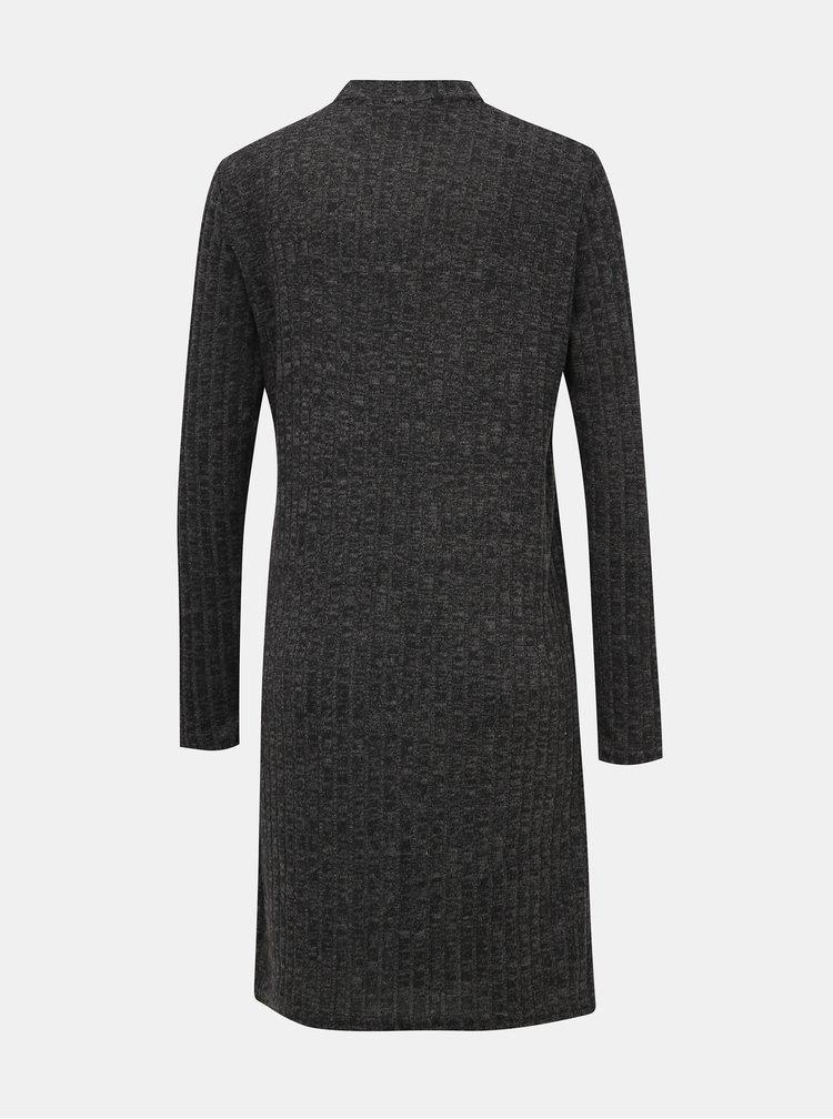 Tmavošedé svetrové šaty Noisy May Kevin