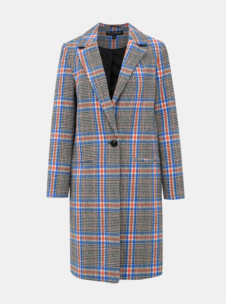 Šedý kockovaný kabát Miss Selfridge