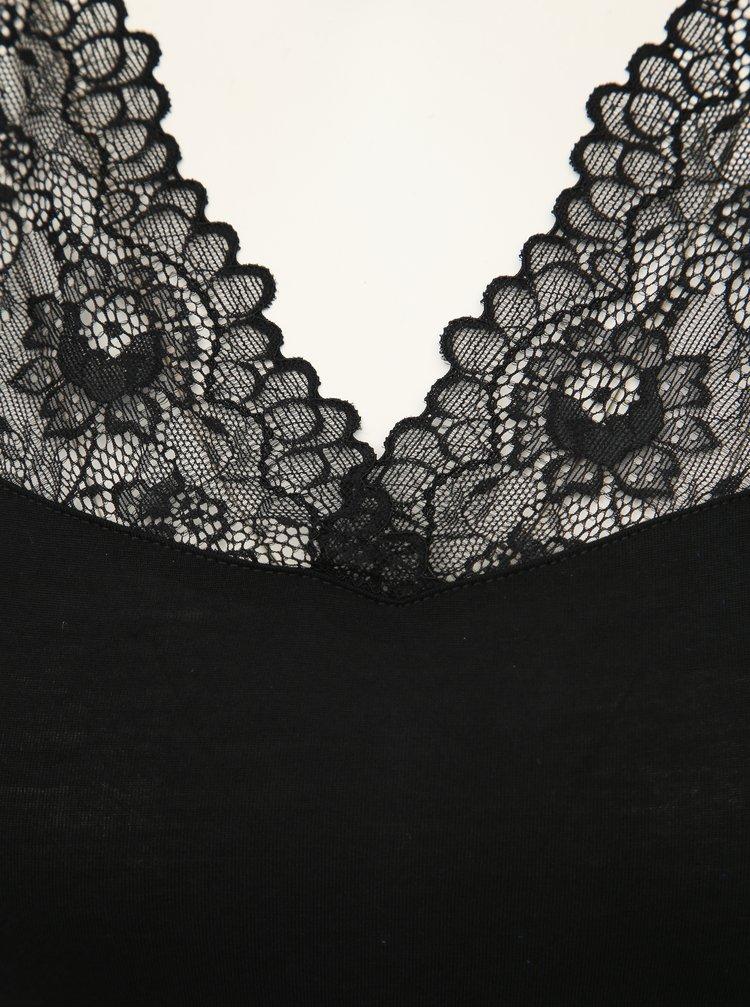 Čierne body s krajkou Jacqueline de Yong Tine