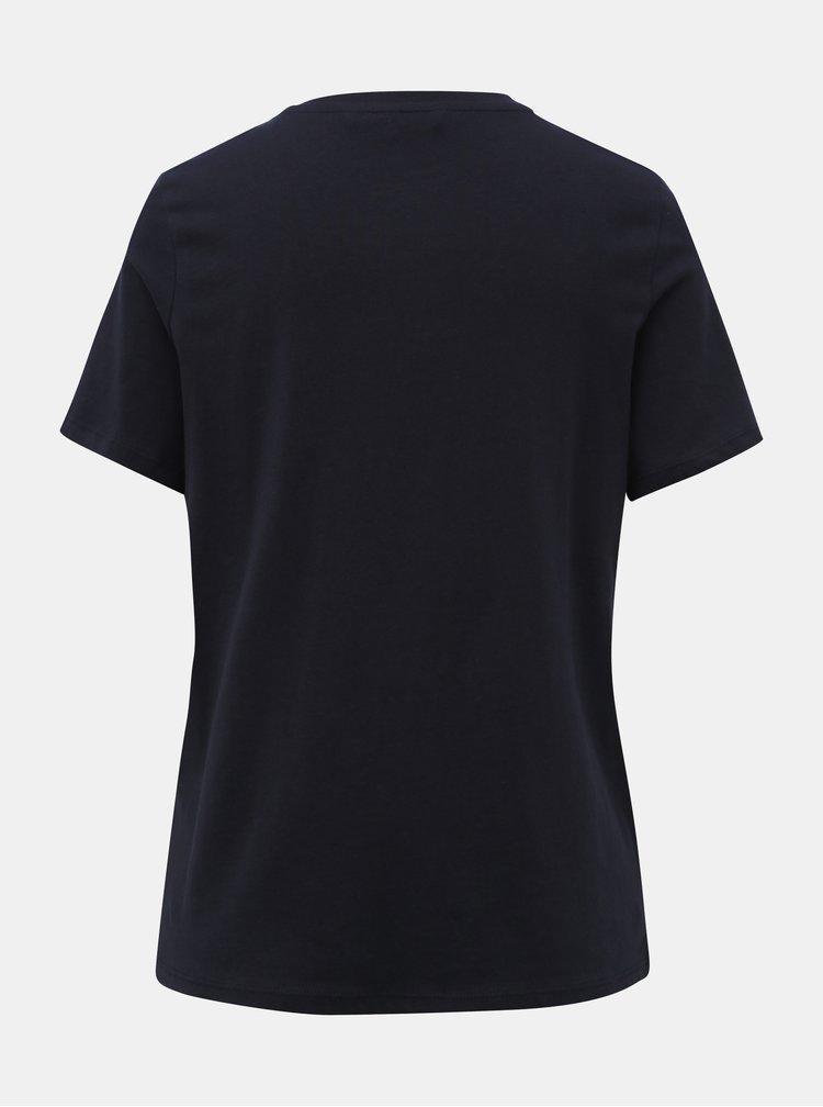 Tmavomodré tričko s potlačou VERO MODA Xmas