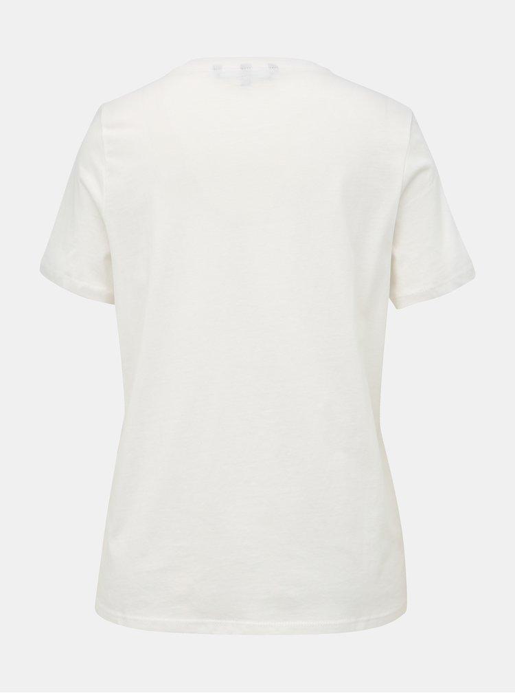 Biele tričko s potlačou VERO MODA Xmas