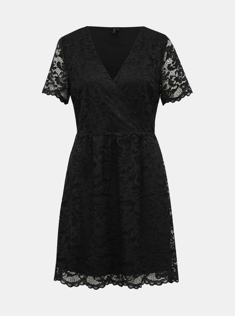 Černé krajkové šaty VERO MODA Dora