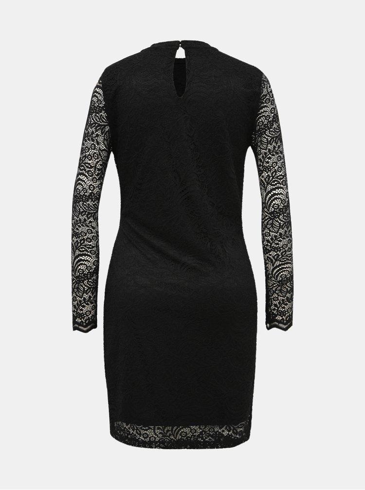 Černé krajkové pouzdrové šaty VERO MODA Medina