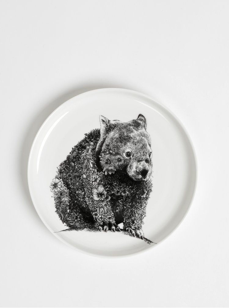 Biely porcelánový tanier s motívom wombata Maxwell & Williams