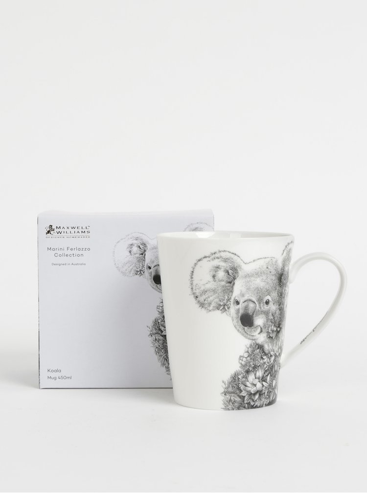 Bílý porcelánový hrnek s motivem koaly Maxwell & Williams