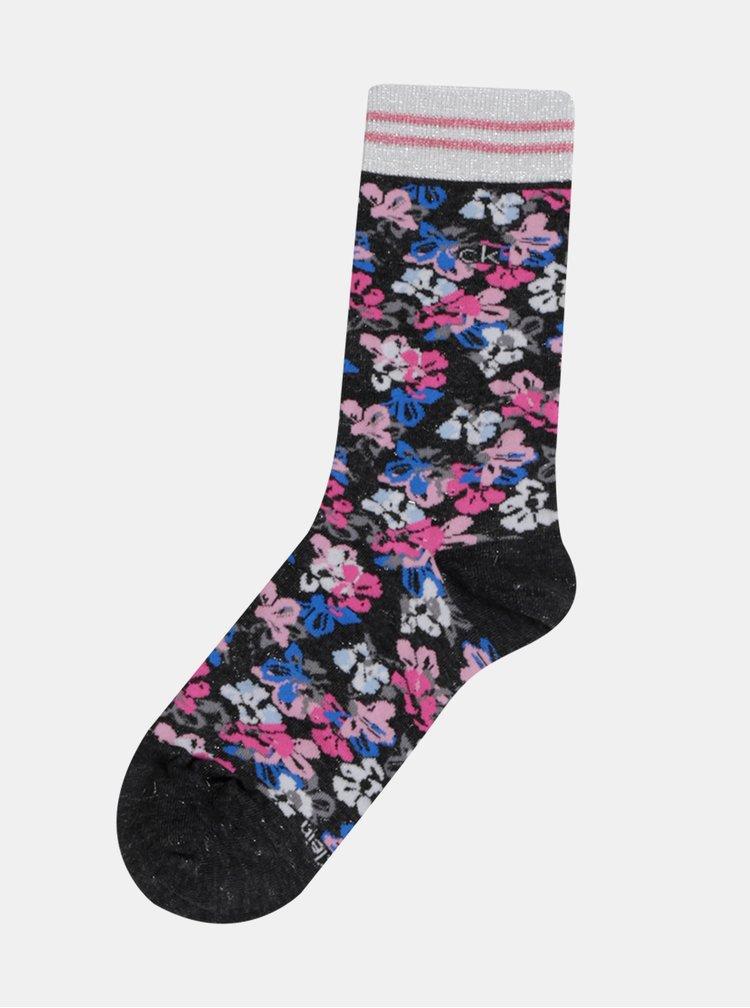 Sada tří párů dámských šedých ponožek Calvin Klein Jeans