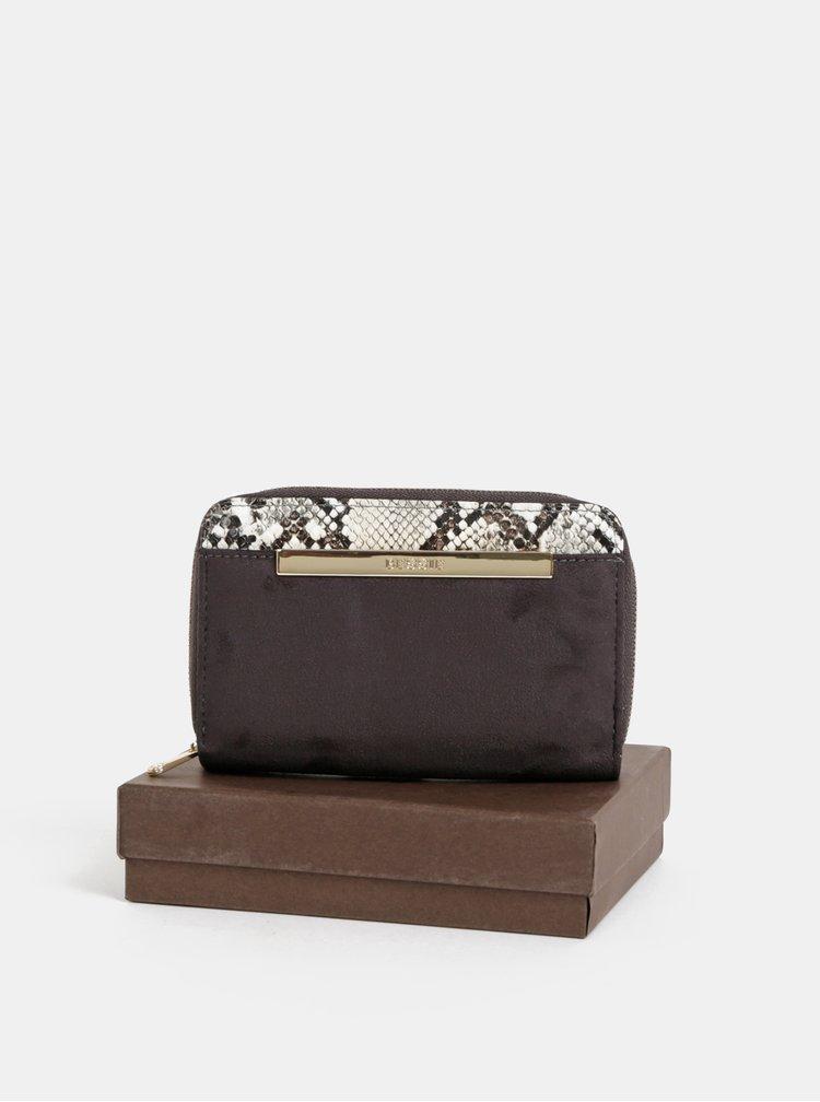 Šedá peňaženka v semišovej úprave Bessie London