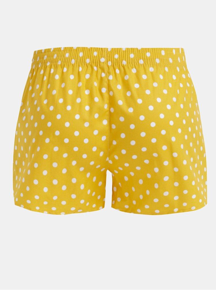 Žluté dámské puntíkované trenýrky El.Ka Underwear