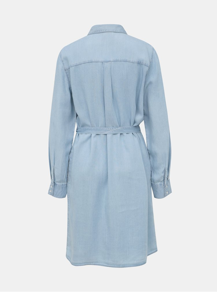Světle modré džínové šaty VILA Gia
