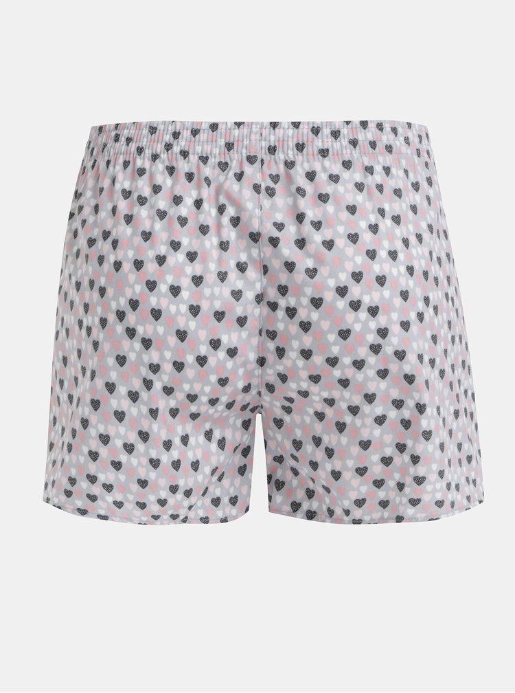 Růžovo-šedé dámské vzorované trenýrky El.Ka Underwear