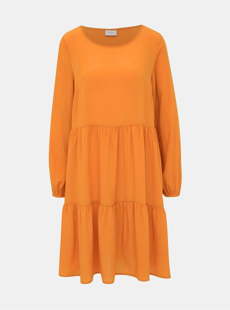 Oranžové šaty VILA Muhulda