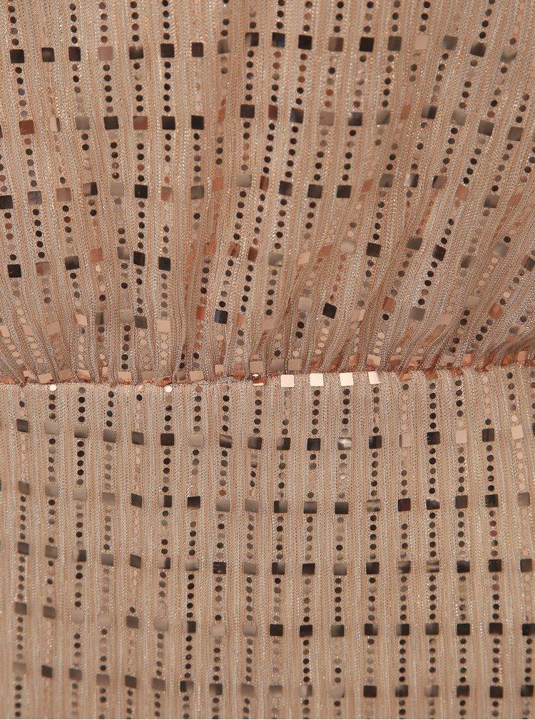 Púzdrové šaty v ružovozlatej farbe VILA Rama