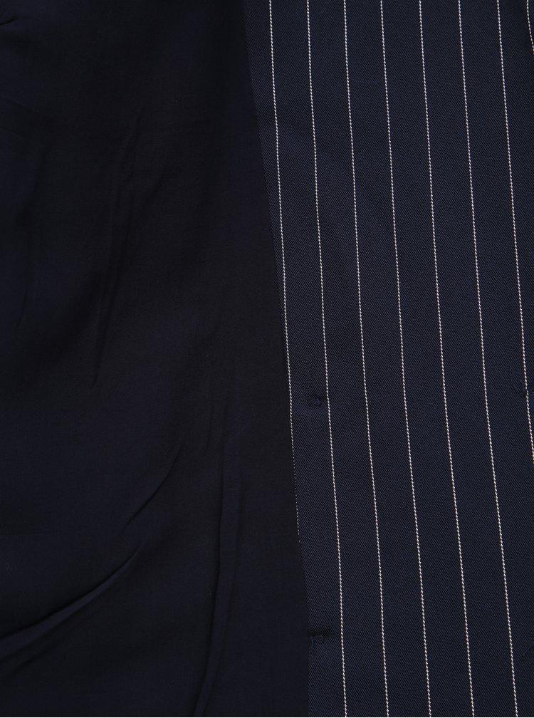 Tmavomodré pruhované sako VILA Enrica