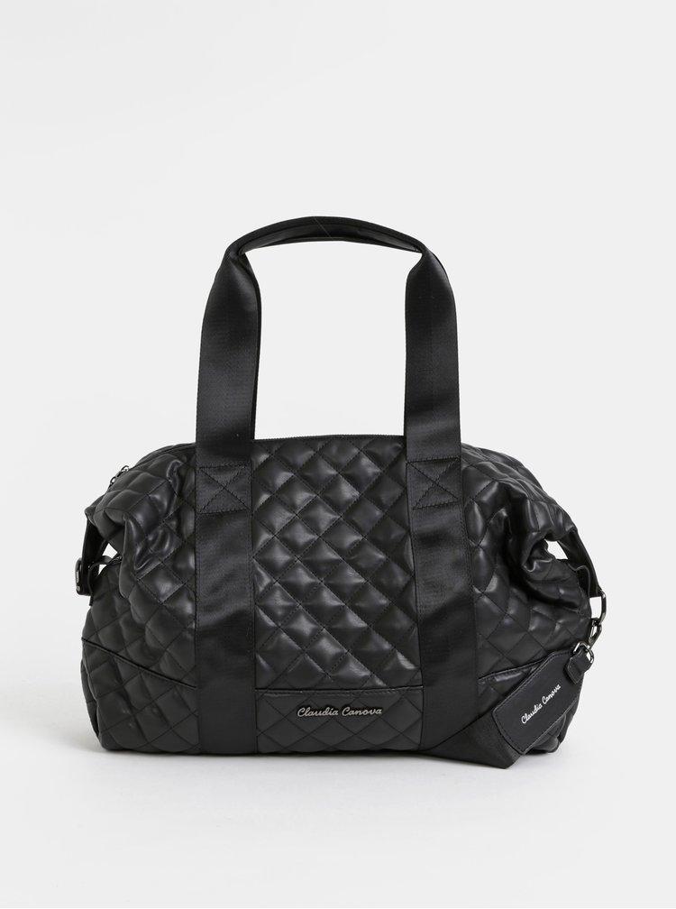 Černá prošívaná cestovní taška Claudia Canova Hope Zuria