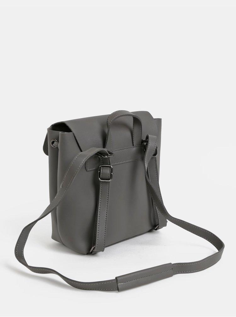 Šedý malý batoh/crossbody kabelka Claudia Canova Kiona