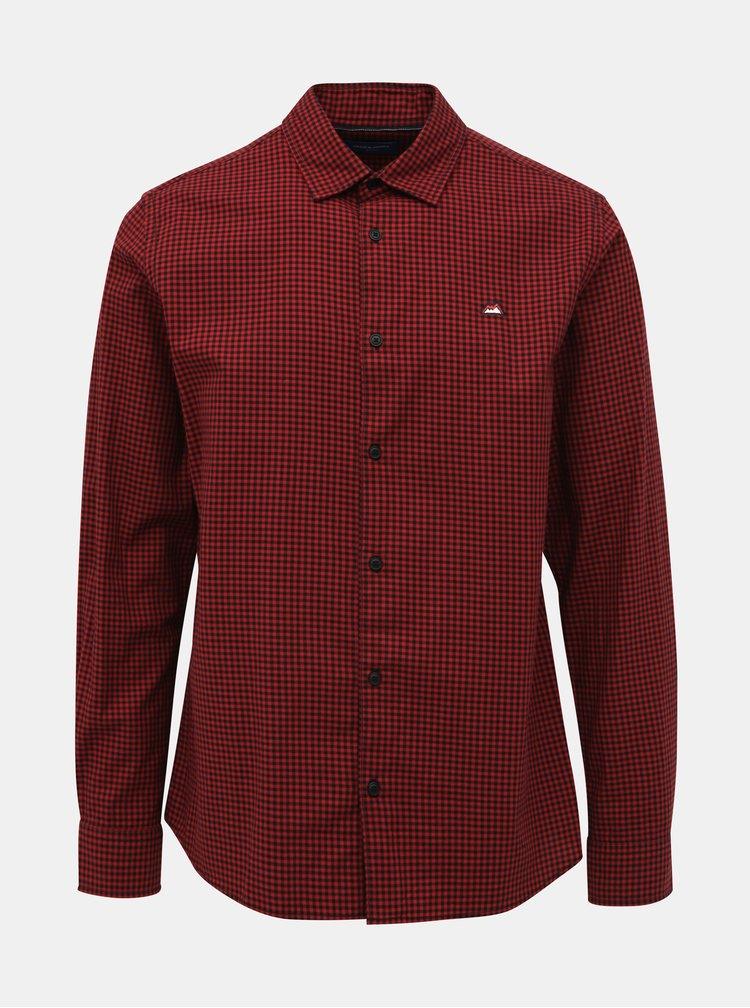Červená kockovaná comfort fit košeľa Jack & Jones Rivan
