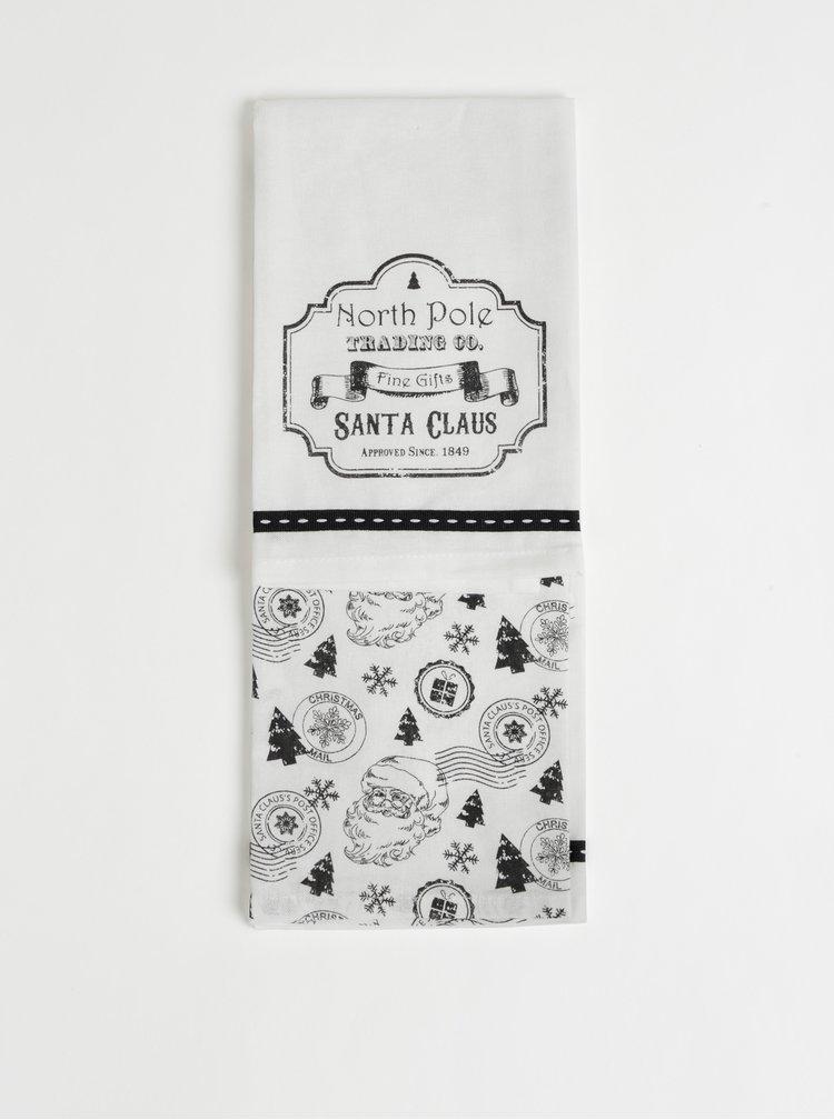 Sada dvoch utierok v bielej farbe s vianočným motívom Cooksmart