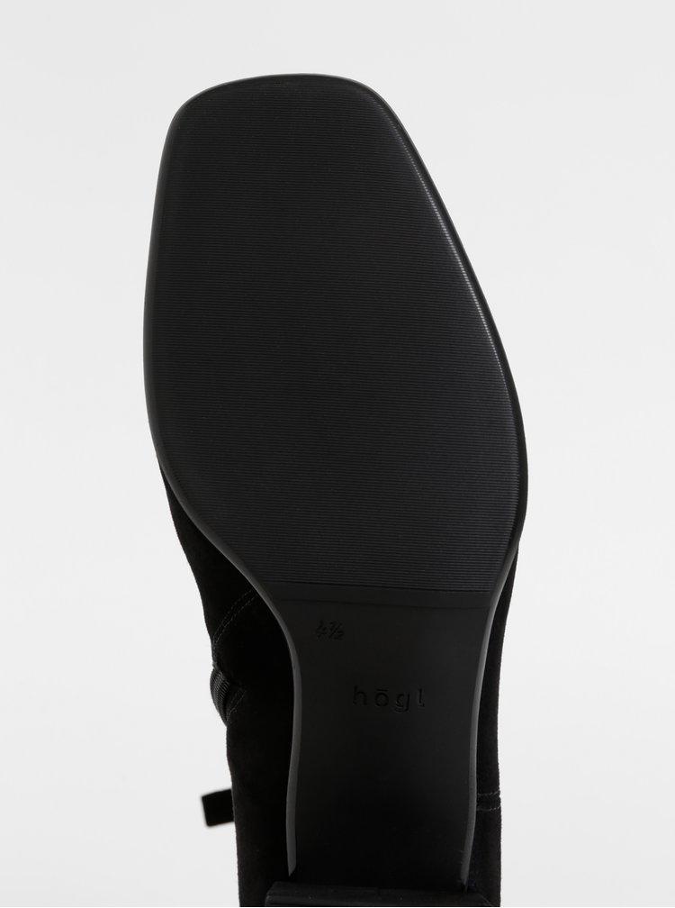 Černé semišové kotníkové boty Högl
