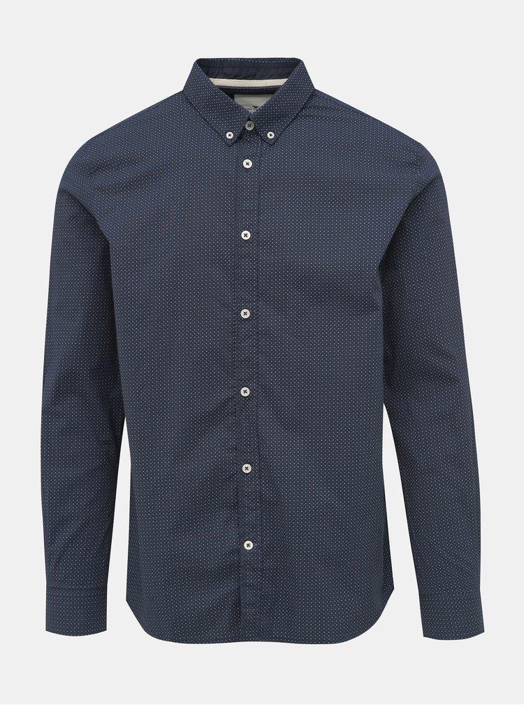 Tmavomodrá pánska vzorovaná košeľa Tom Tailor