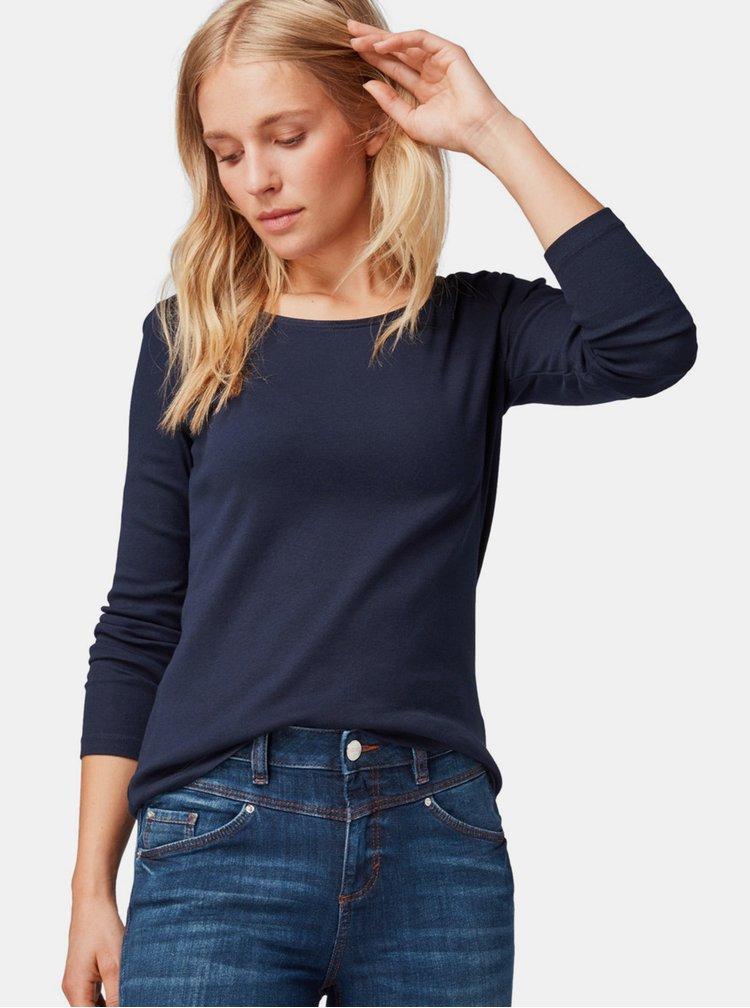 Tmavě modré dámské basic tričko Tom Tailor