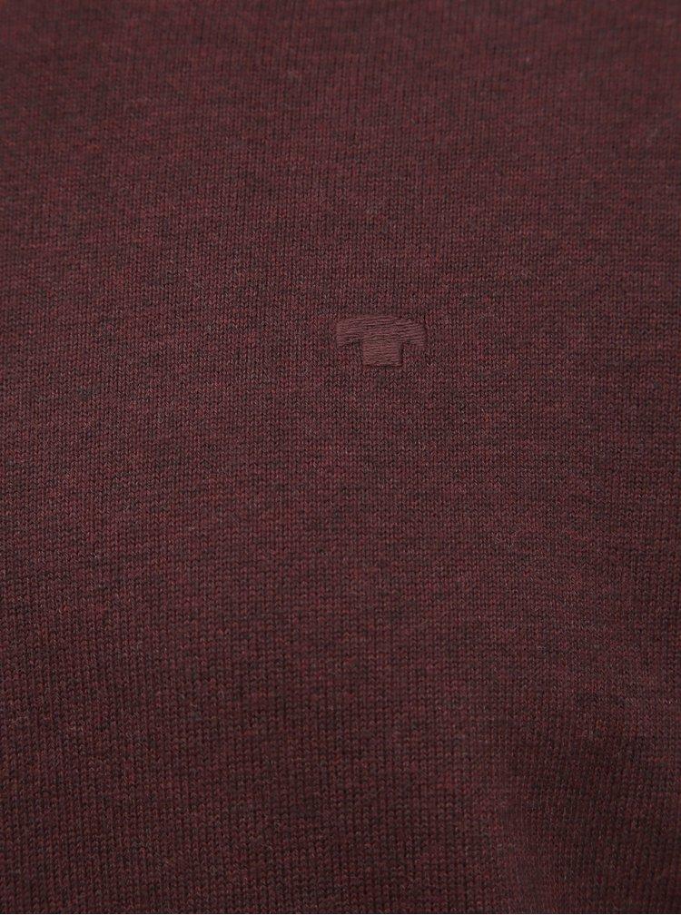Vínový pánsky basic sveter Tom Tailor