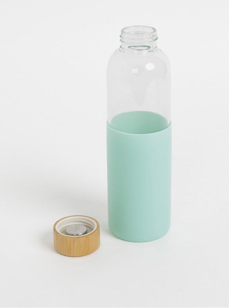 Skleněná láhev na vodu s mentolovým obalem Sass & Belle 550 ml