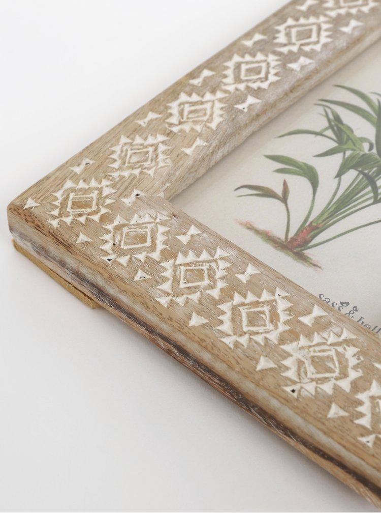 Hnědý dřevěný fotorámeček Sass & Belle 10 x 15 cm