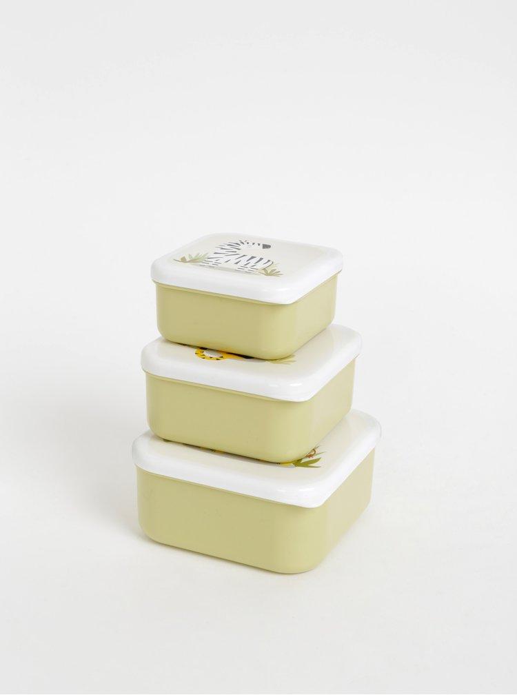 Sada tří světle zelných boxů na jídlo Sass & Belle Safari