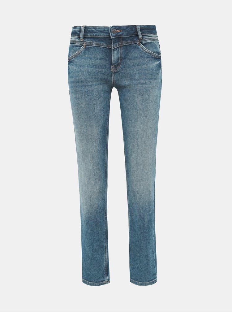 Modré dámské straight fit džíny Tom Tailor Alexa