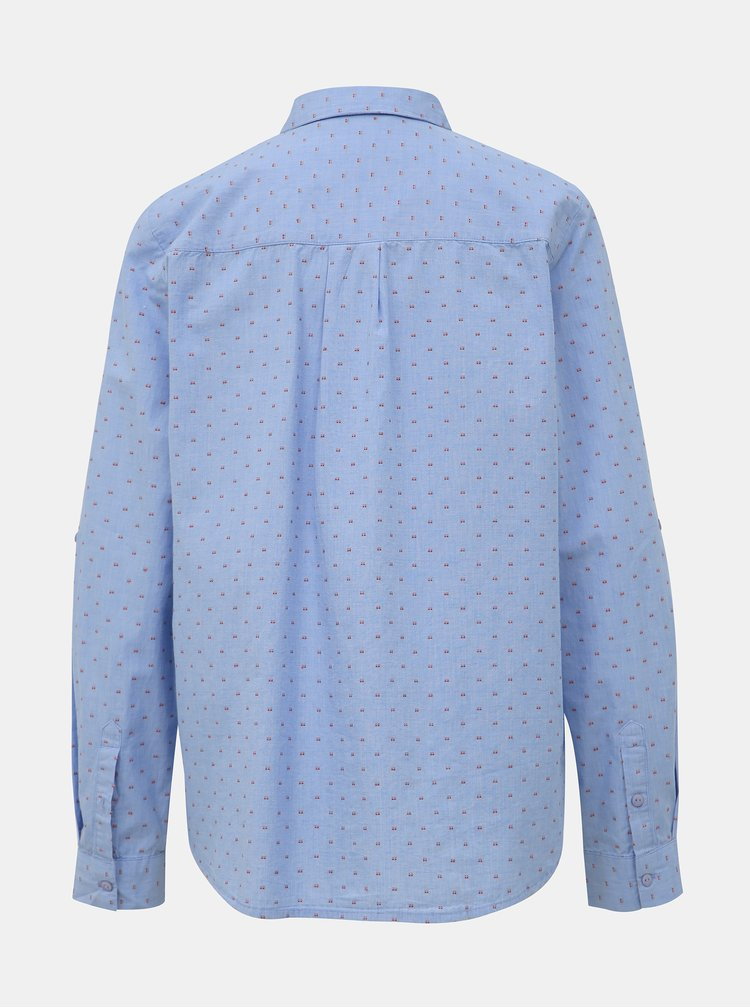 Modrá dámska vzorovaná košeľa Tom Tailor