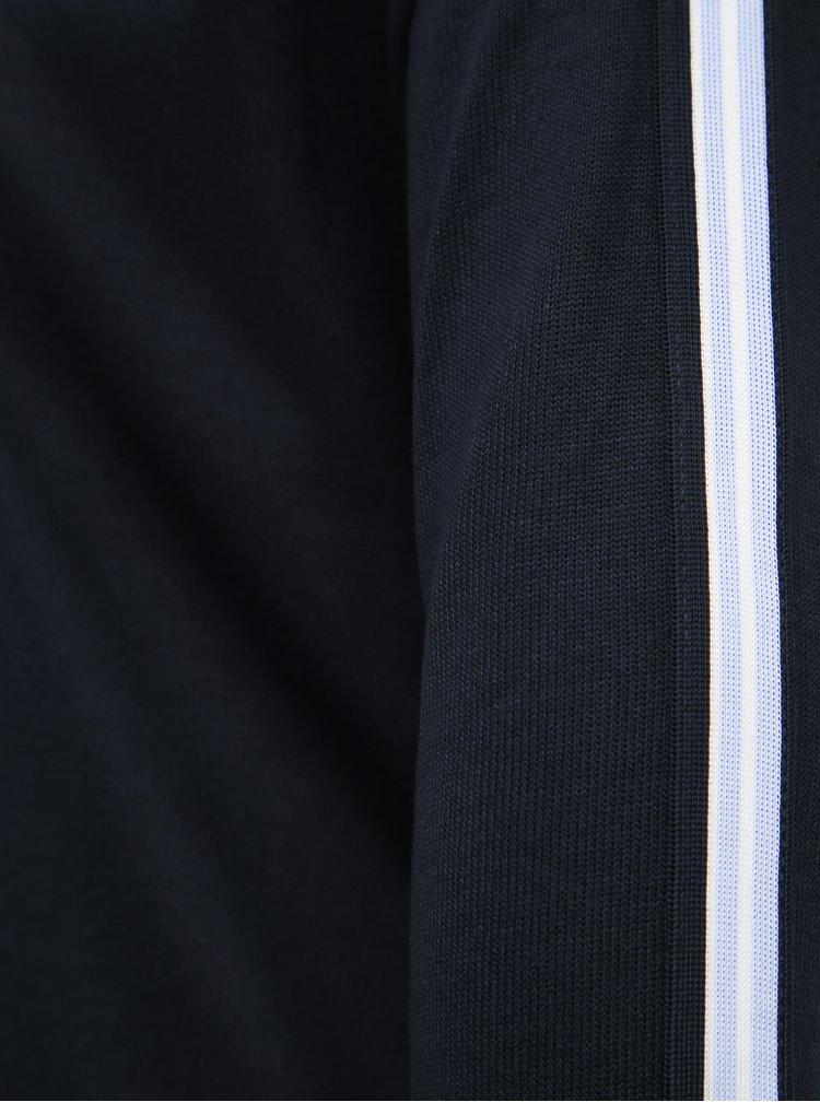 Tmavomodrý dámsky ľahký sveter s pásom Tom Tailor
