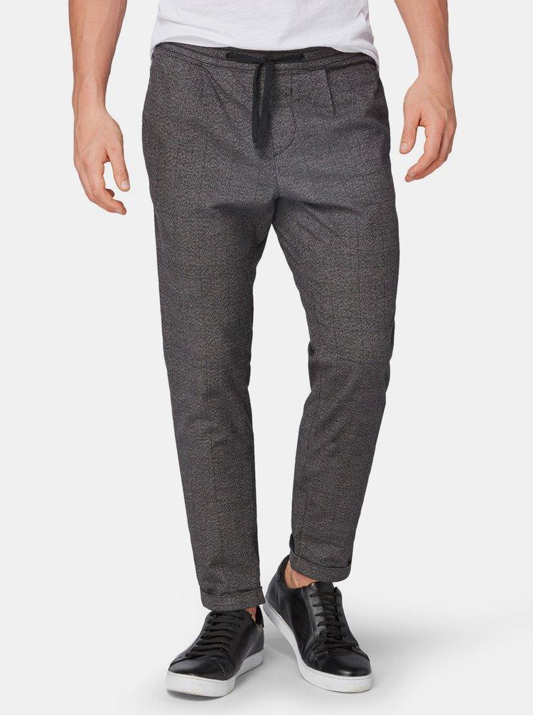 Šedé pánské vzorované kalhoty Tom Tailor Denim