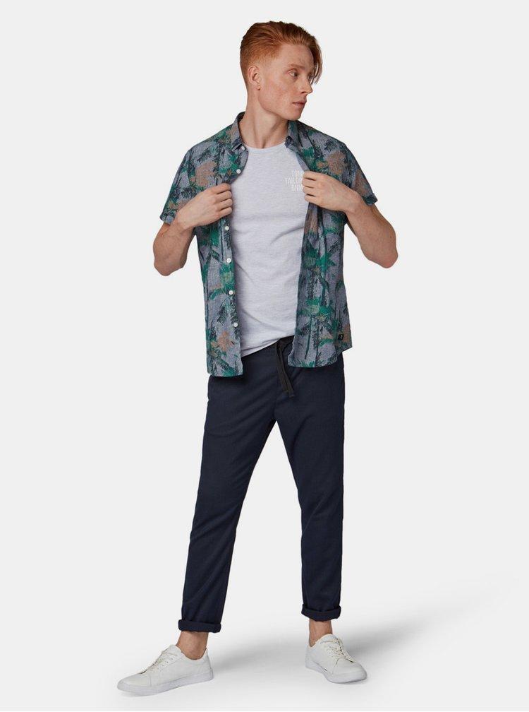 Světle šedé pánské žíhané tričko Tom Tailor Denim